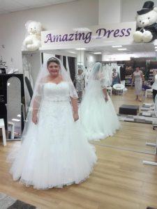 Braut im weißen Brautkleid