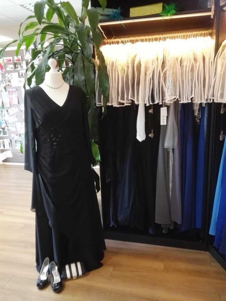 Abendkleid Schwarz Langarm