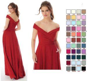 Abendkleid mit 40 Farbvarianten